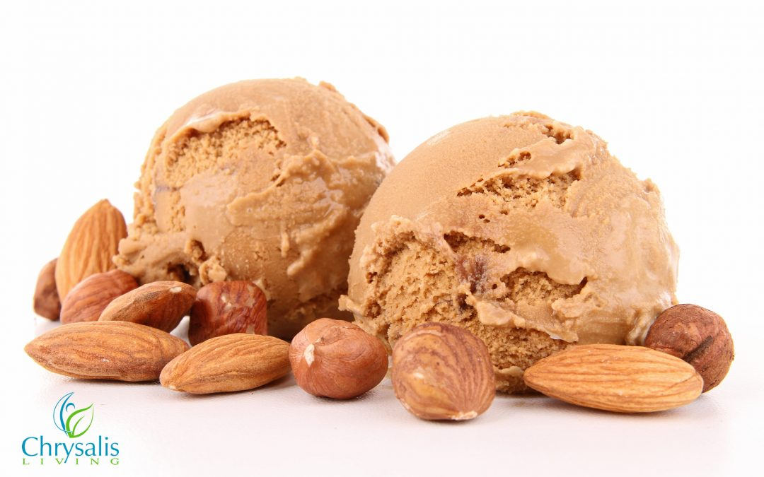 chocolate almond ice cream