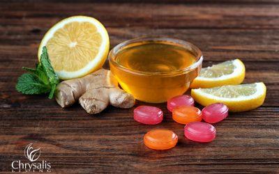 Recipe: Honey Lemon Ginger Cough Drops