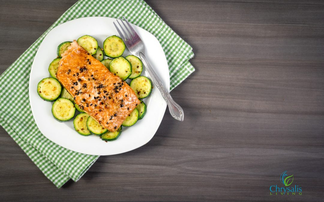 Recipe – Steamed Salmon and Vegetables